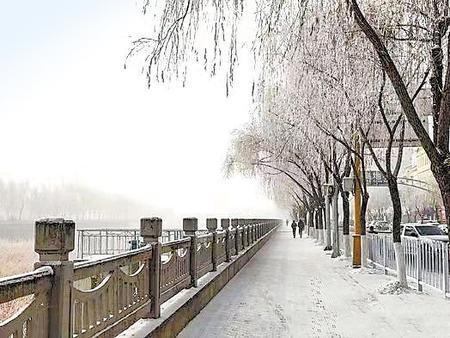 临夏州康乐县:雾凇美景惹人醉