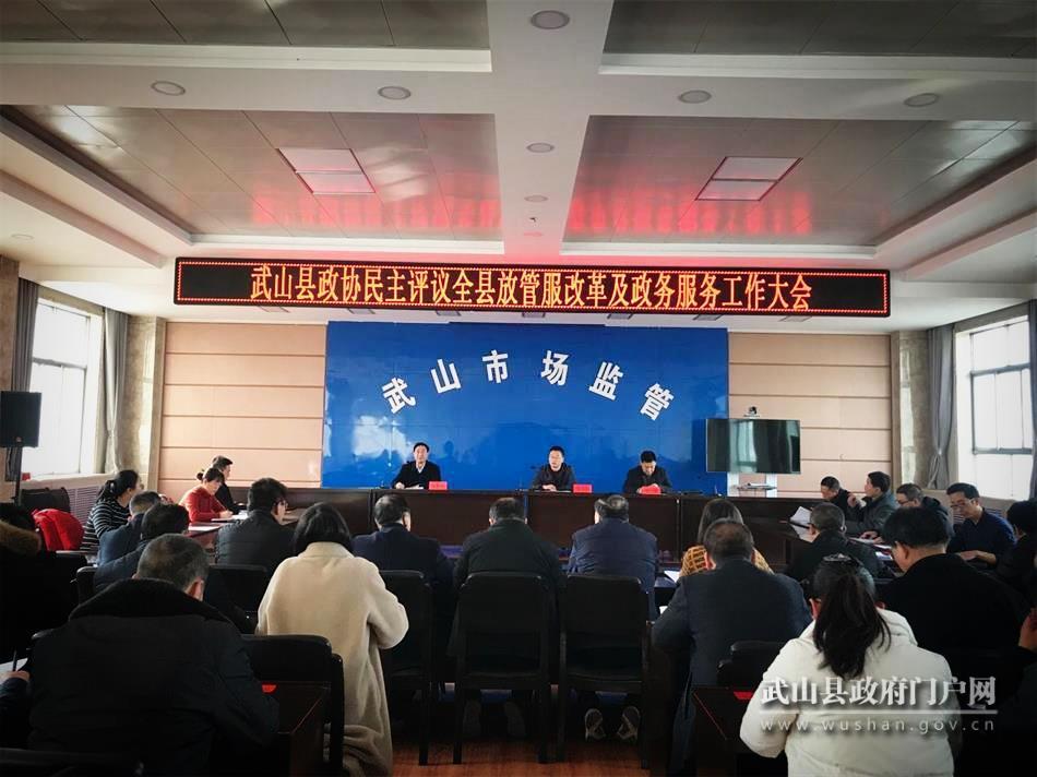 """武山县政协民主评议全县""""放管服""""改革与政务服务工作"""