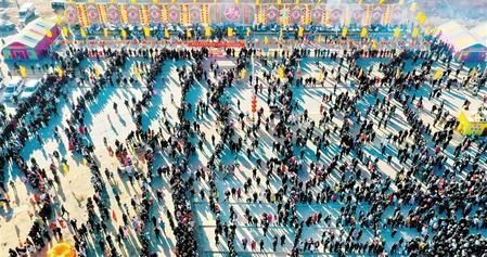 张掖山丹第五届冬至民俗文化庙会在祁店村举行(图)