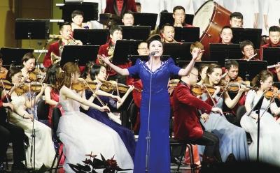 2020年兰州市新年音乐会举行 李荣灿等出席并观看 张伟文致辞