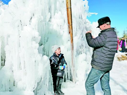 踏雪渭河源 掀起定西市冬日旅游热潮