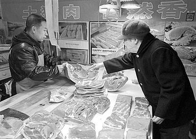 兰州:储备猪肉投放 惠民店销售火爆