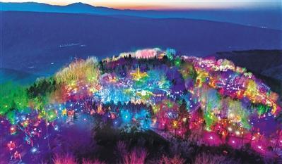 祈福新年许愿兰山