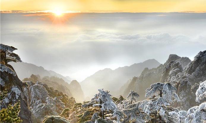 己亥收官之日 黄山景区景观美得让人惊喜