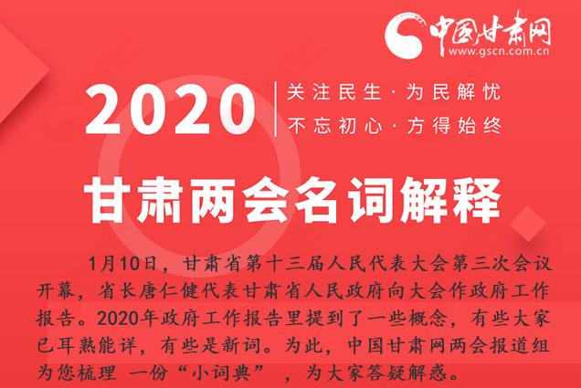 2020甘肃两会|涨知识!政府工作报告23个新名词,最全解释来了