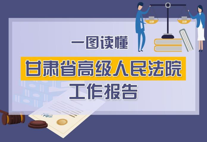 2020甘肃两会|一图读懂甘肃省高级人民法院工作报告