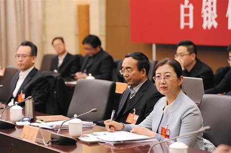 参加甘肃省十三届人大三次会议的白银代表团审议《政府工作报告》