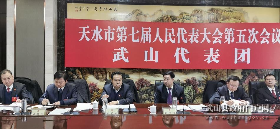 【聚焦天水两会】武山代表团认真审议人大常委会和法、检两院三个工作报告