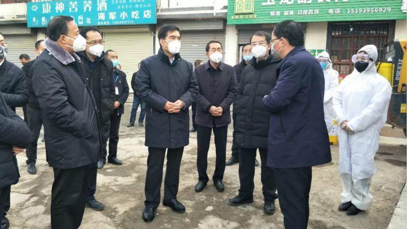 孙雪涛在武都检查指导新型冠状病毒感染的肺炎疫情防控工作