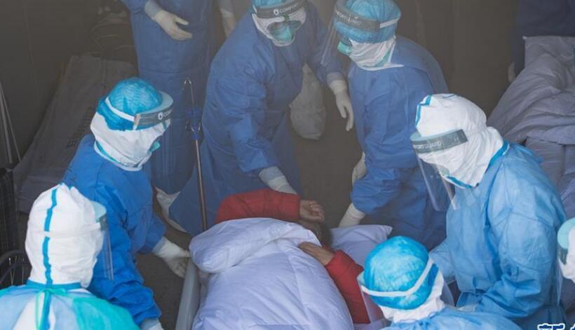 武汉火神山医院开始收治新型冠状病毒感染的肺炎确诊患者