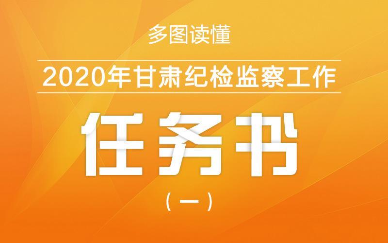 2020年甘肃纪检监察工作任务书(一)