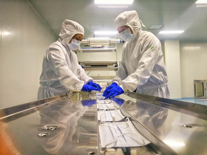 【疫情防控 甘肃在行动】兰州石化第一条口罩生产线投产