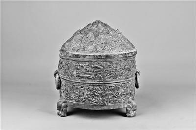 平凉博山盖神兽纹铜樽,东汉人向往过上神仙生活的印迹