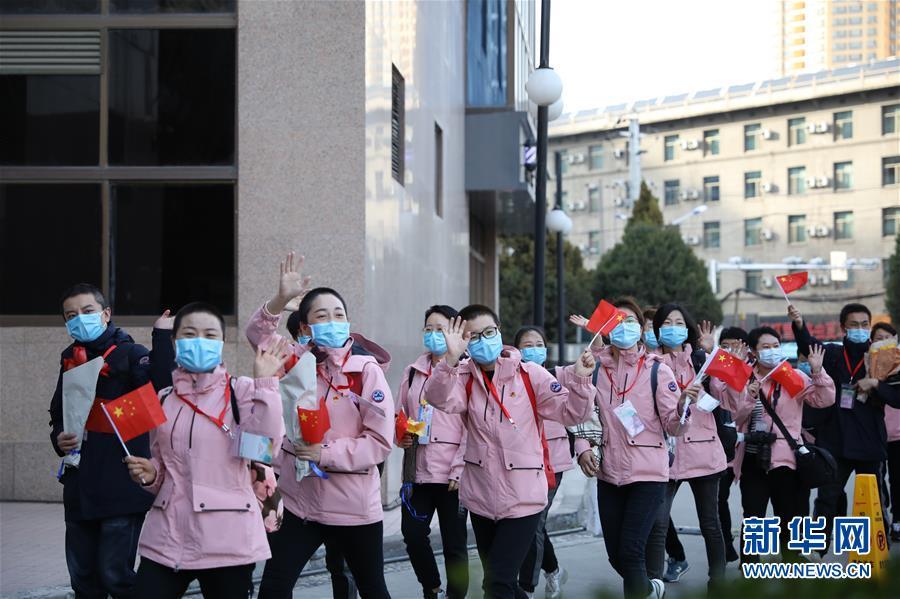 (聚焦疫情防控)(2)甘肃支援湖北医疗队第三批返回人员抵达兰州