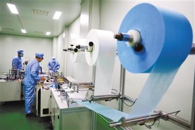 张掖首条医用口罩生产线投产运行(图)