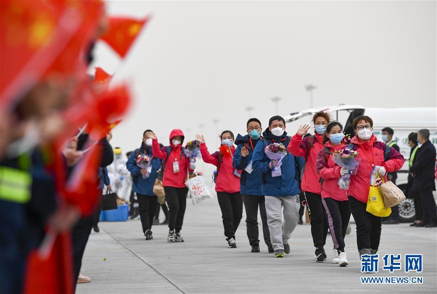 (聚焦疫情防控)(2)宁夏支援湖北医疗队323名医护人员抵达银川