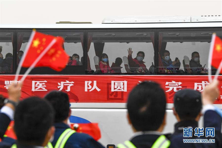 (聚焦疫情防控)(4)宁夏支援湖北医疗队323名医护人员抵达银川