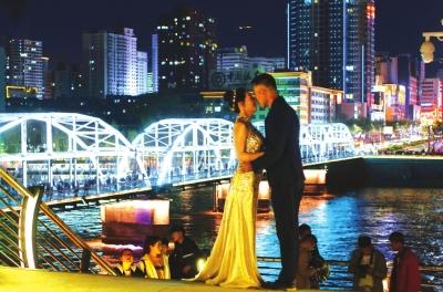 昨夜,中山桥夜景灯光更漂亮了