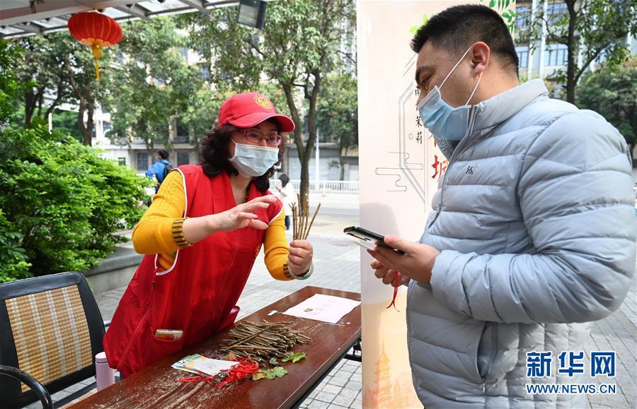 (社会)(1)福州:向市民免费送20万株茉莉花苗
