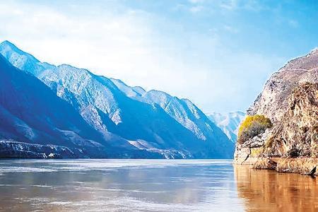 奇异的白银黄河大峡风光
