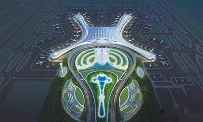 兰州中川机场三期扩建工程效果图亮相