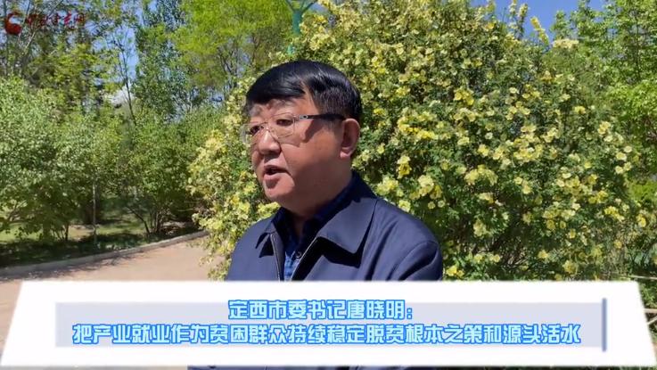 定西市委书记唐晓明:把产业就业作为贫困群众持续稳定脱贫根本之策和源头活水(视频)