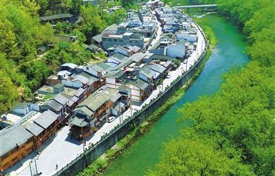 陇南康县阳坝村:一条老街带动蝶变之翼