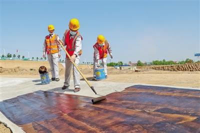 西峰区小北湖建设项目正在紧张施工
