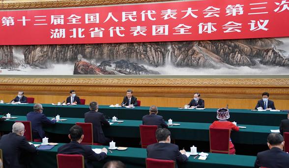 习近平参加湖北代表团审议