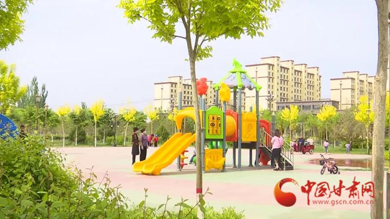 金塔:绿化品质提升让城市焕发新