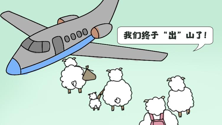 手绘|乘风破浪的咩咩羊