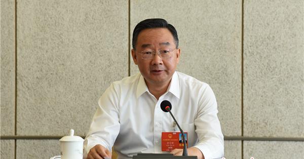 甘肃代表团分组审议全国人大常委会工作报告 唐仁健参加