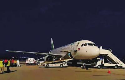 中川国际机场首架进口水果包机抵达新区