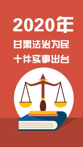 一图读懂2020年甘肃法治为民十件实事