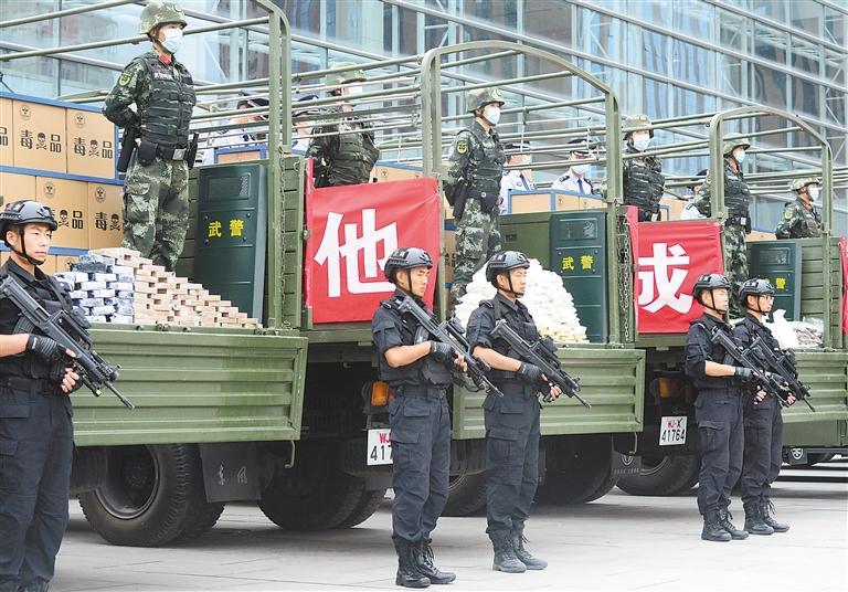 甘肃省禁毒宣传月启动 昨日集中焚毁毒品1.3吨