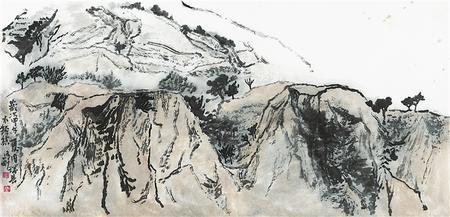 西部高原的笔墨重塑——马刚山水画赏析