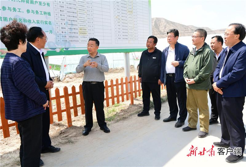 唐仁健在会宁县调研指导脱贫攻坚等工作