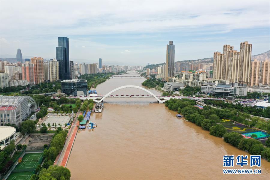 (环境)(2)持续降雨致黄河兰州段水位上涨