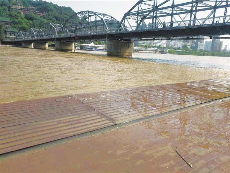 黄河兰州段迎来今年入汛以来第二次较高水位 水利部门:在可控范围 近两日便可回落