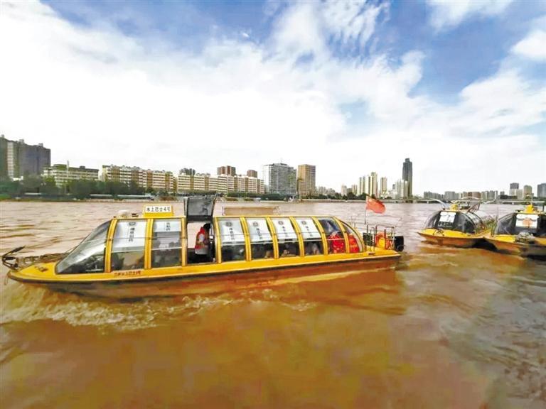 黄河水位有所回落 水上巴士恢复运营