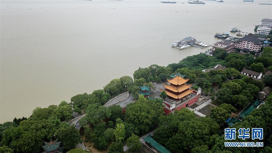 (防汛抗洪)(3)俯瞰高水位下的岳阳楼