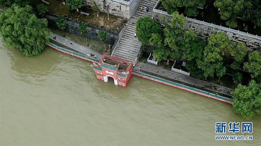 (防汛抗洪)(4)俯瞰高水位下的岳阳楼