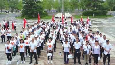 携手健步行 共创文明城 甘肃省市人大常委会机关举办系列活动助力创文