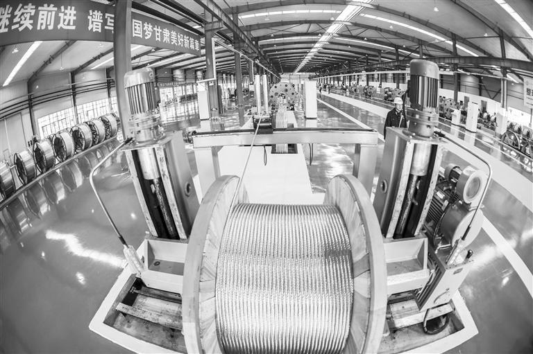 正威高铁导线新材料项目在兰州新区正式投产
