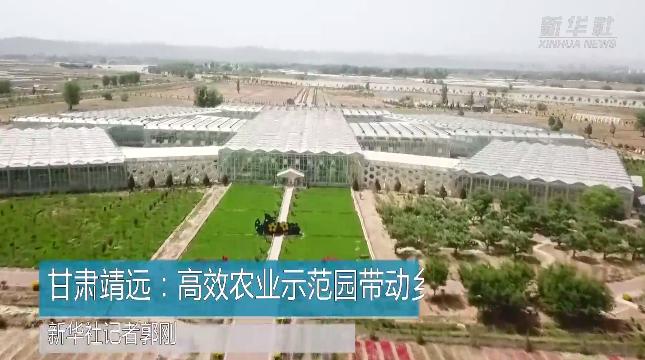 甘肃靖远:高效农业示范园带动乡