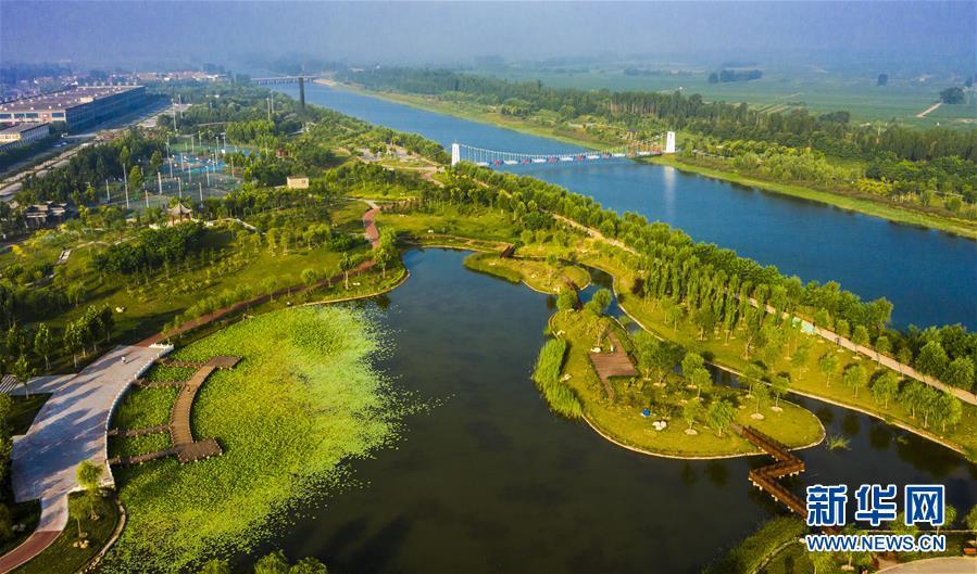 (环境)(1)河北武邑:旧河道变身生态公园