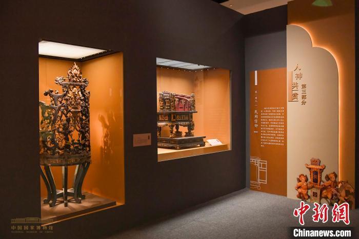 国博展出160余件潮州木雕精品再