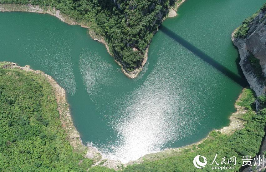 水西湖露营基地大峡谷航拍。吴守良 摄
