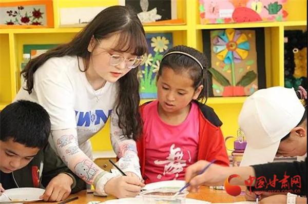 关爱山区的孩子 西北师大学子在东乡、会宁开展体育美育浸润行动活动