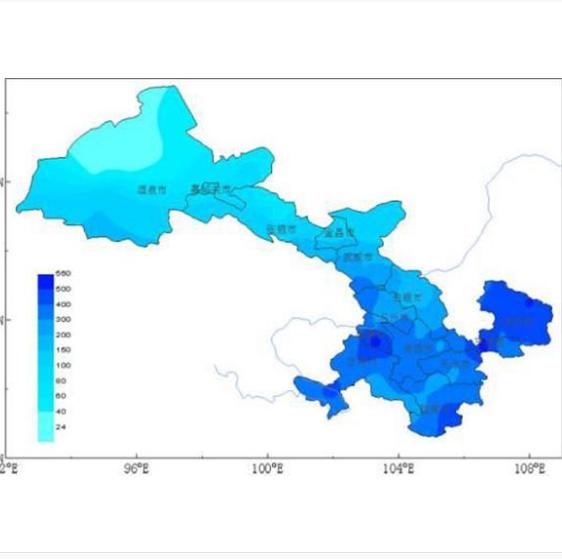 甘肃平均气温近7年次低平均降水量近7年次多